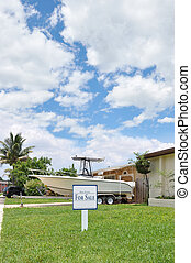 Real Estate For Sale Sign Lawn