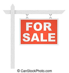 Real estate for sale street sign