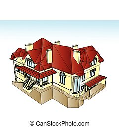 Real Estate For Sale. Vector illustration