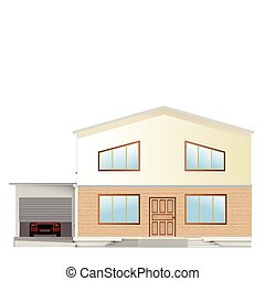 Real Estate For Sale. Vector facade