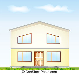 Real Estate For Sale. Vector illustration facade