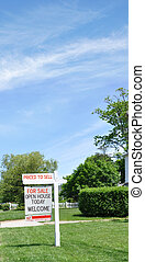 Real Estate For Sale Welcome Sign