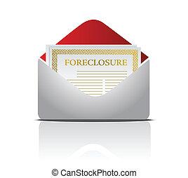 Real estate foreclosure notice lett