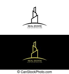real estate, gebäude, geschaeftswelt, logo, design, begriff
