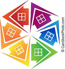real estate, häusser, logo