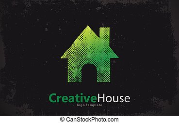 real estate, haus, kreativ, vektor, logo, design.