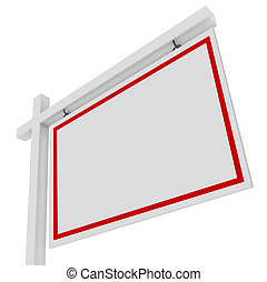 Real Estate Home House for Sale Sign Sell Building Property Blank Copy Space