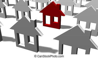 Real estate - home icon - animation - Real estate  home icon