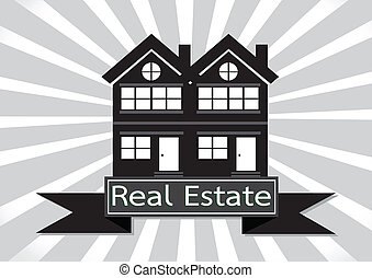 Real Estate  House  Building icon design
