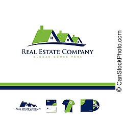 Real estate house company logo icon