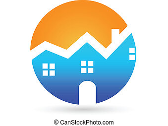 Real estate house company logo