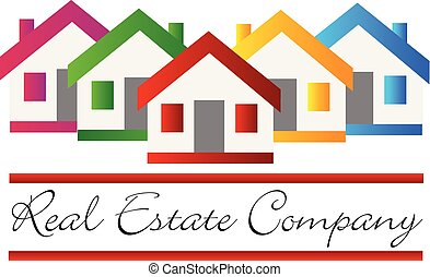 Real estate house company vector