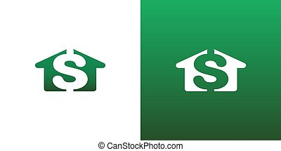 Real Estate House Cost Money Vector Symbol