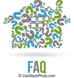 Real estate house  FAQs logo. Vector graphic design