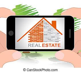 Real Estate House Indicates Property 3d Illustration