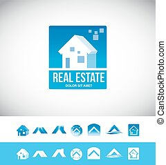 Real estate house logo 3d icon