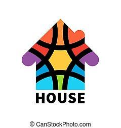 Real estate house logo. Icon. Design template element
