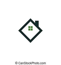 Real estate house logo icon design template
