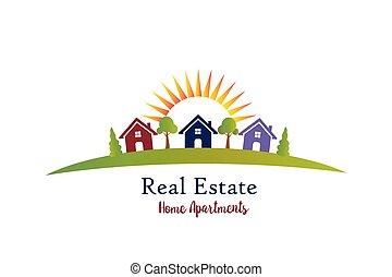 Real estate house logo vector icon