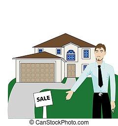 Real Estate House Man