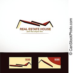 Real estate house roof logo icon