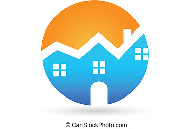 Real estate house sunny logo
