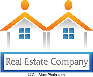 Real estate houses icon figure logo