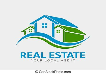 Real Estate Houses Logo. Vector Design