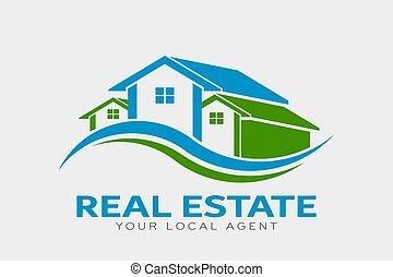 Real Estate Houses Logo. Vector Design