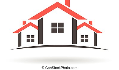 Real Estate houses logo.