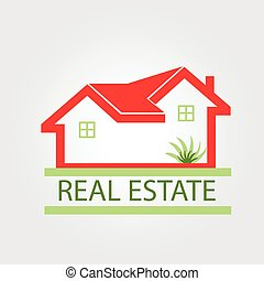 Real estate houses logo