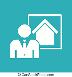 Real Estate Icon. - Real Estate Flat Icon. Vector.