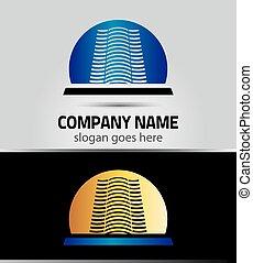 Real estate icon logo. Eps 10