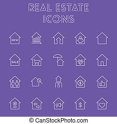 Real estate icon set.