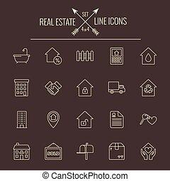 Real estate icon set.