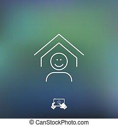 Real estate icon - Thin series