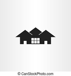 real estate icon vector house