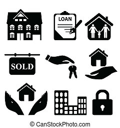 Real Estate Icons - Real estate symbols icon set