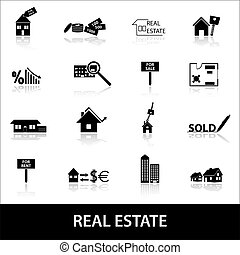 real estate icons eps10