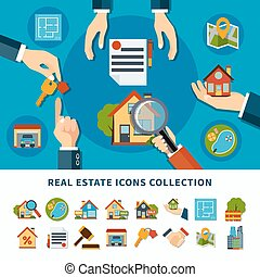 Real Estate Icons - Real estate and property search flat...