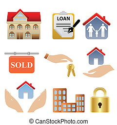 Real Estate Icons - Real estate related icons and symbols