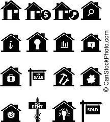 Real estate icons set