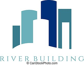 Real estate illustration template with building. Vector