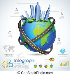 Real estate Infographic - illustration of Real estate...