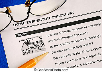 Real estate inspection checklist