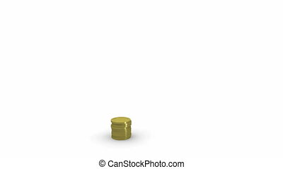 growing piles of coin and a house that sits above