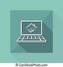 Real estate investment - Vector flat icon