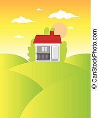 Real estate landscape background
