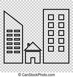 Real estate line vector icon