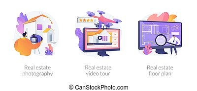 Real estate listing services abstract concept vector ...
